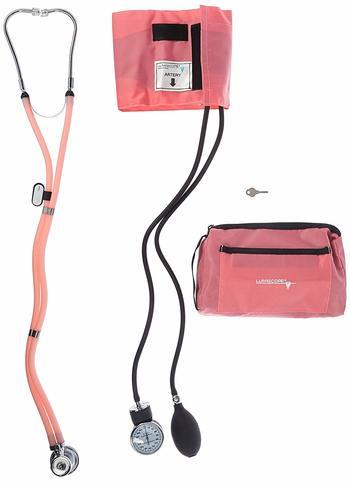 Adjustable Gauge Blood Pressure Unit With Stethoscope
