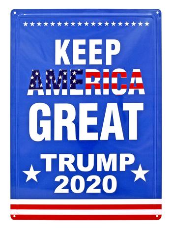 New Metal Sign Trump