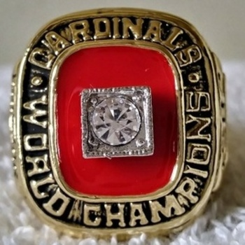 MLB St.louis Cardinals 1982 World Series Championship Replica Ring Size 10