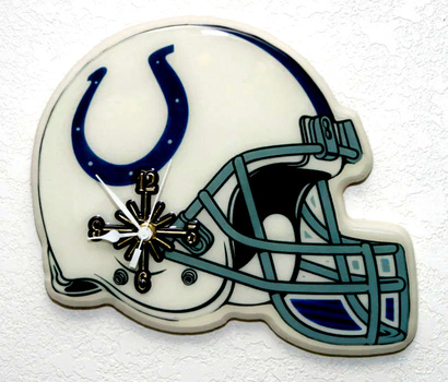New Indianapolis Colts NFL Helmet Wall Clock