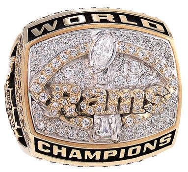 St. Louis Rams 1999 Super Bowl XXXIV Championship Replica Ring Size 11