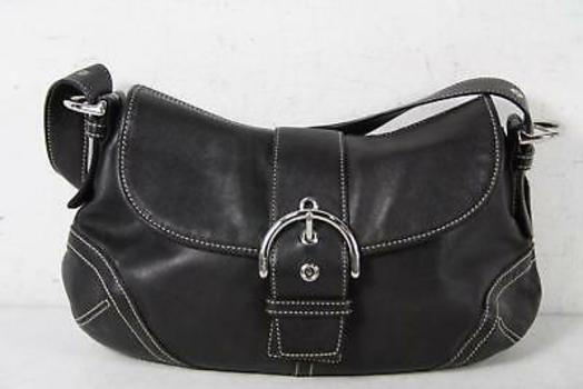 Coach Black Leather Medium Soho Shoulder Handbag