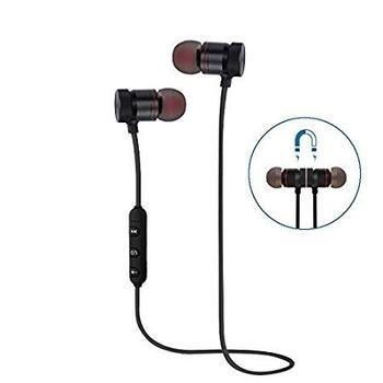 Wireless Sports Earphones w/Mic IPX4 Waterproof Sweatproof Stereo Headset