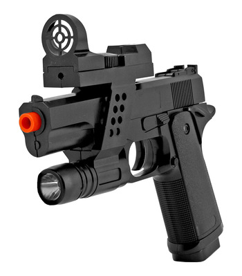 Airsoft Handgun - Black With Laser and Target