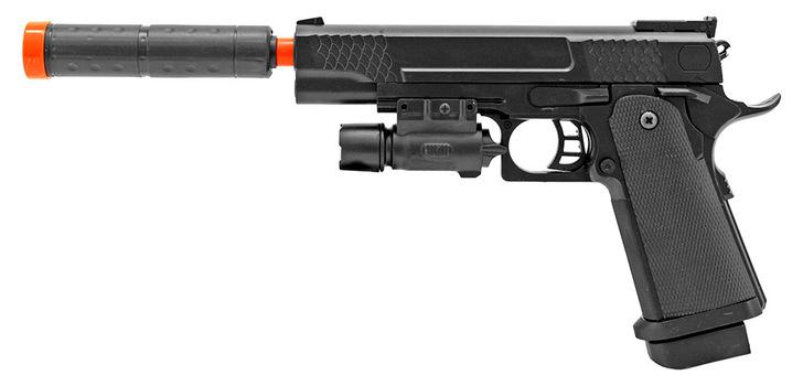 Airsoft Handgun - Black With Silencer