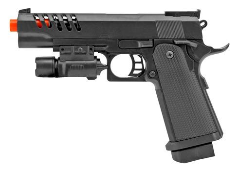 Airsoft Handgun - Black With Laser