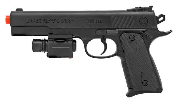 Airsoft Pistol Handgun - Black With Laser