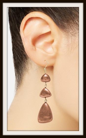 Style & Co Gold Tone Resin Triple Drop Earrings