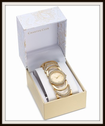 Charter Club Women's Crystal Accent Bracelet Watch 30mm Retail $89.99