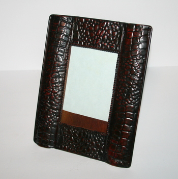 "6x4"" Picture Frame with Crocodile Skin Pattern"