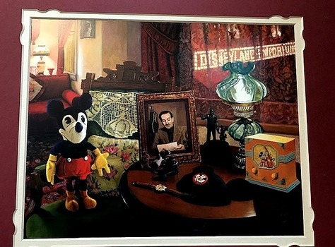 4 Pieces Including Art Piece Print Signed By Koveti Old Mickey And Disneyland And More