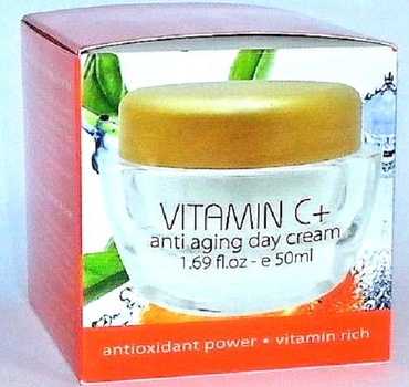 New CRYSTALLINE VITAMIN C Anti-Aging Day Cream With Dead Sea Minerals Made In ISRAEL