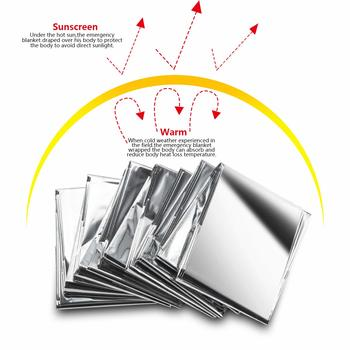 Emergency Thermal Blankets (4-Pack) , Perfect Survival Gear for Adults and Kids, Survival Kit, Hiking, Outdoors, Camping Emergency Space Blankets