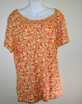 Basic Edition Women's Flowery Blouse Size XL