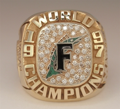 Florida Marlins 1997 World Series Champions Replica Ring Size 10
