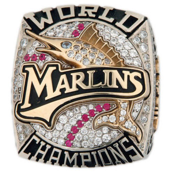 Florida Marlins 2003 World Series Champions Replica Ring Size 11
