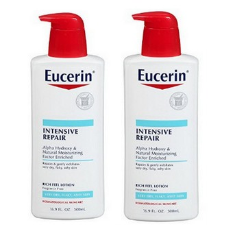 New 2 Pack Eucerin Intensive Repair Enriched Lotion 16.90 oz  Each