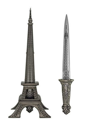 New  Paris Tower Statue Knife