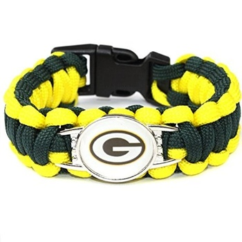 New Green Bay Packers Paracord Survival Bracelets Replica