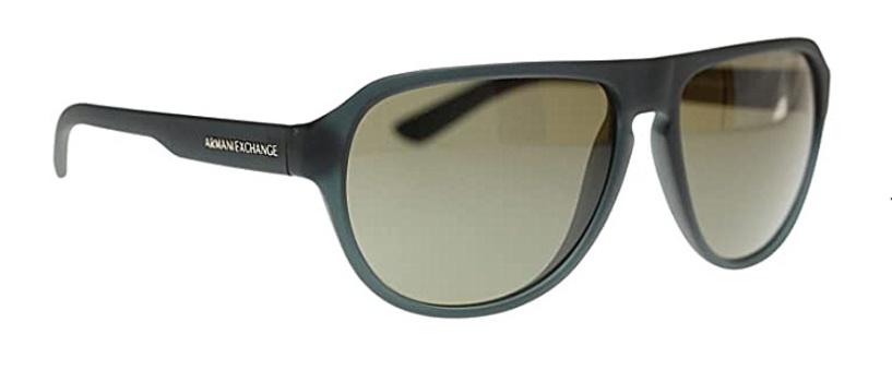 Armani Exchange AX4028S Sunglasses Matte Blue w/Crystal Grey Unisex