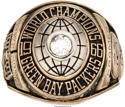 Green Bay Packers 1966 Super Bowl I Championship Replica Ring Size 11