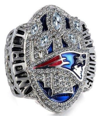 NFL New England Patriots Super Bowl LI Championship Replica Ring Size 12