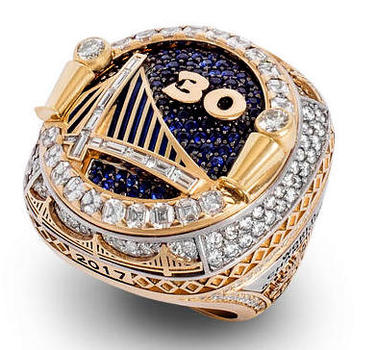 NBA Golden State Warriors 2018 World Champions Replica Ring Size 10