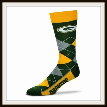 NFL Green Bay Packers Argyle Crew Socks Size OSFM