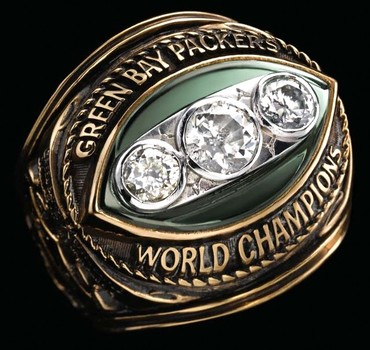 NFL Green Bay Packers Superbowl II Champions 1966 Replica Ring Size 11