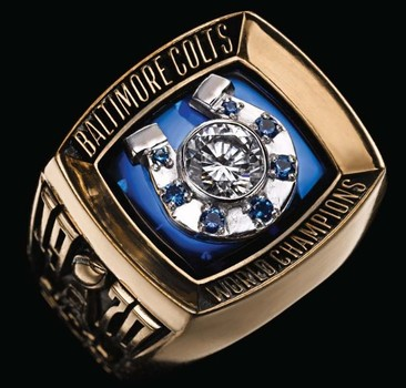 NFL Baltimore Colts 1970 Super Bowl V Championship Replica Ring Size 10
