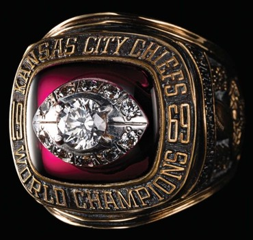 NFL Kansas City Chiefs 1969 Super Bowl IV Championship Replica Ring Size 10