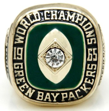 NFL Green Bay Packers 1965 Championship Replica Ring Size 12