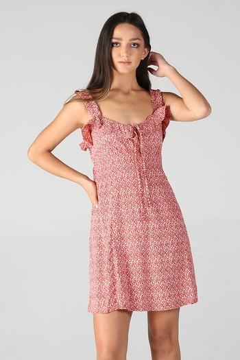 New RUFFLE DETAILS SUNDRESS Dress Size Medium