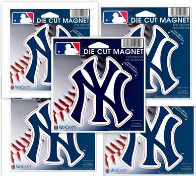 "5 Pcs New York Yankees WinCraft 5"" Die-Cut Car Magnet"