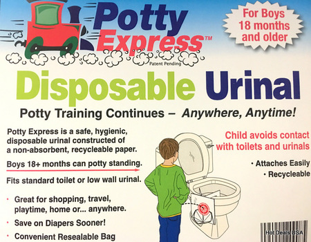 New Great Invention Is For Little Boys Learning To Go Potty 4 Pc Potty Express Disposable Urinal See Video Attached