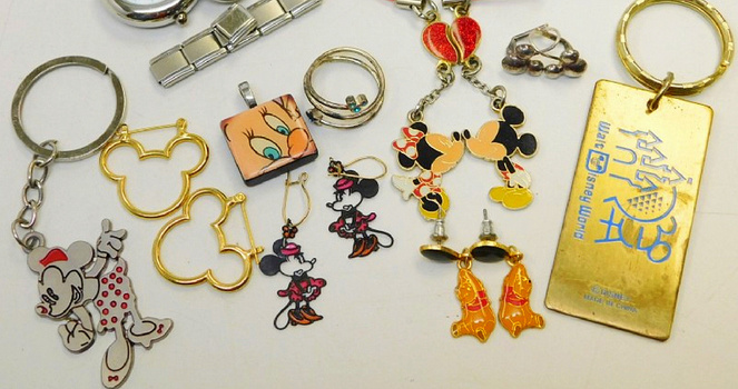 About 10 Pieces Bulk Of DISNEY Key Holders And Others