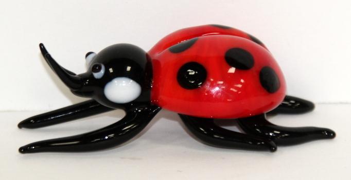 Murano Glass Italy Ladybug Sculpture Hand Made