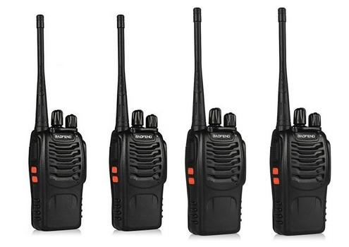Walkie Talkies Two-Way Radio UHF for Hiking Camping Trolling (4 Pack)