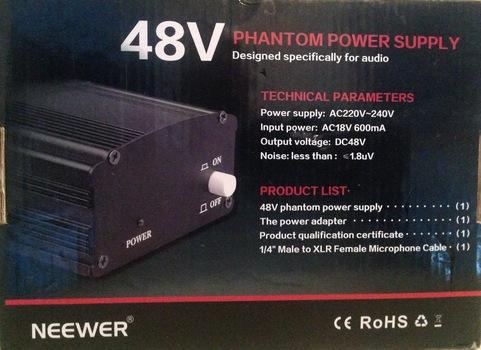 Phantom Power Supply Designed for Audio 48V