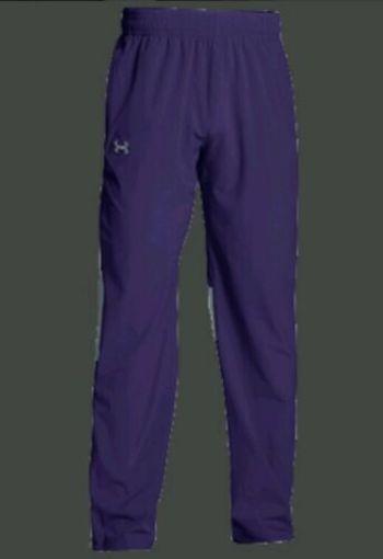 New Under Armour Men's Team Squad Woven Warm Up Pants PURPLE, Size X-Large