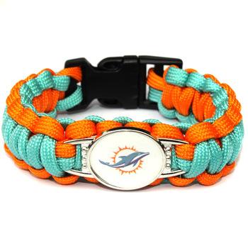 New NFL Miami Dolphins Bracelet Unisex