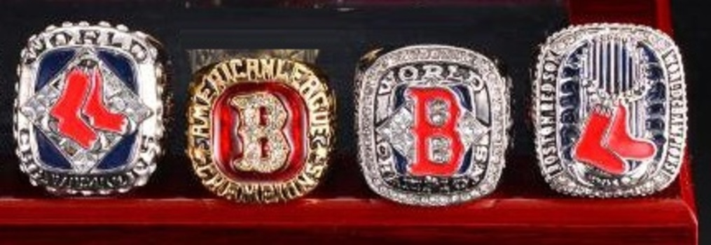 4 MLB Boston Red Sox Champions Replica Ring Size 10