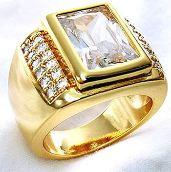 Men's Ring 18K Filled Gold Size 9
