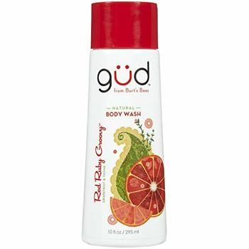 Gud Natural Body Wash Red Ruby Groovy Grapefruit & Thyme, 10 Fluid Ounce