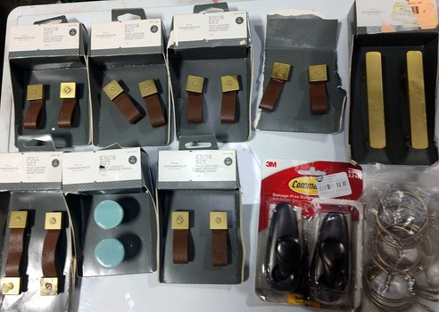 Assorted Kitchen Accessories Including Knobs