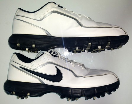 Nike Men's Leather Golf Shoes Size 10