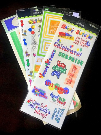 Over 30 Pieces Of Scrapbook Stickers And More