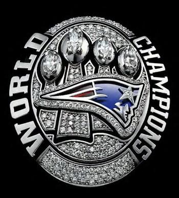 NFL New England Patriots Super Bowl XLIX Replica Ring Size 12