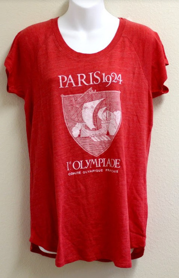 New Olympic Shirt Paris L'Olympiade 1924, Size Medium For Her