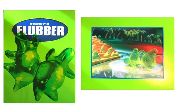 Disney's Flubber 3-D Lenticular From The Disney Store Exclusive Commemorative with a Surprised Drawing Signed by Artist